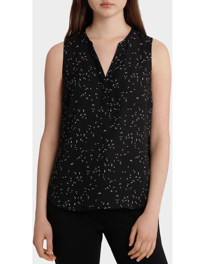 Collarless Sleeveless Shirt image 1