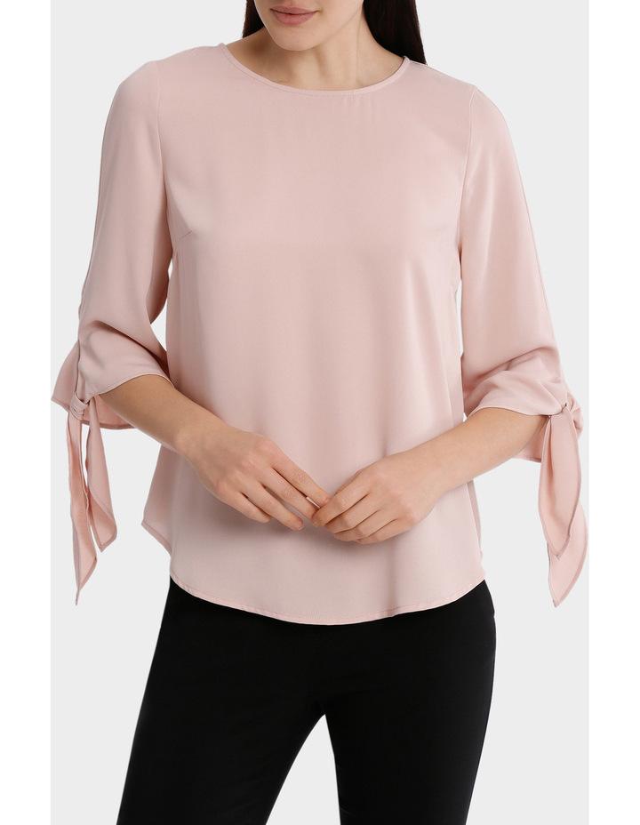 tie flute sleeve blouse image 1