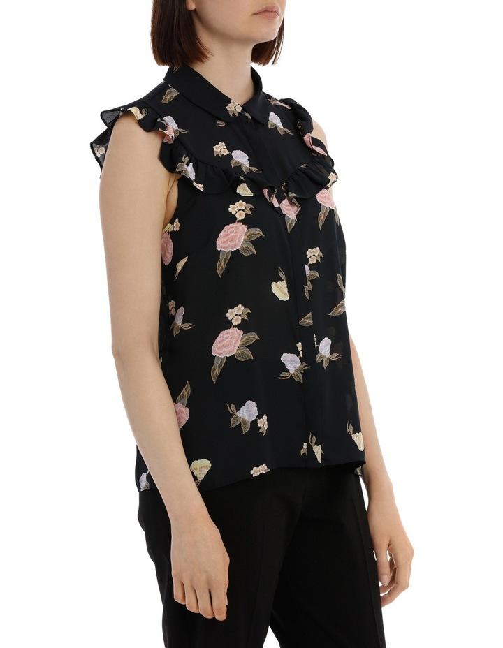 Ruffle Yoke Shirt - Oriental Floral image 2