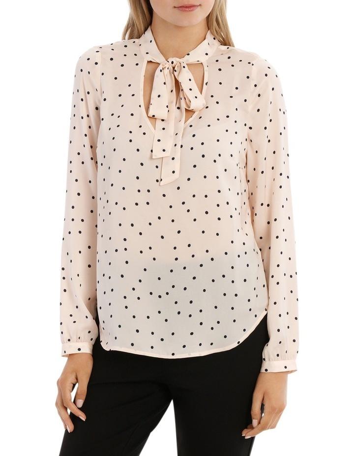 Pussy Bow Print Shirt - Polka Dot image 1