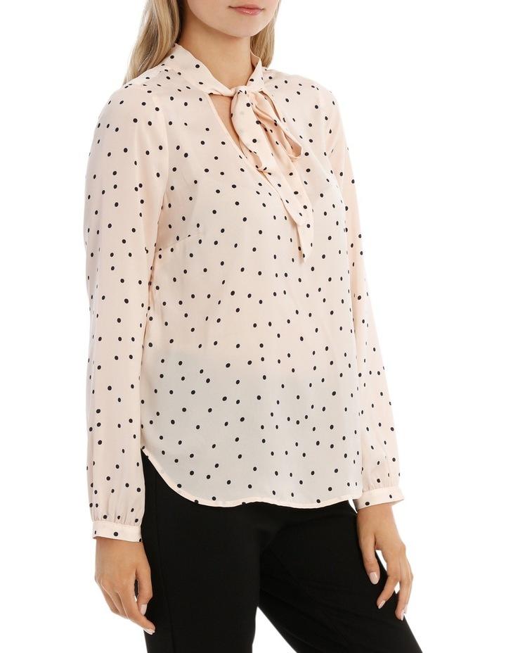 Pussy Bow Print Shirt - Polka Dot image 2