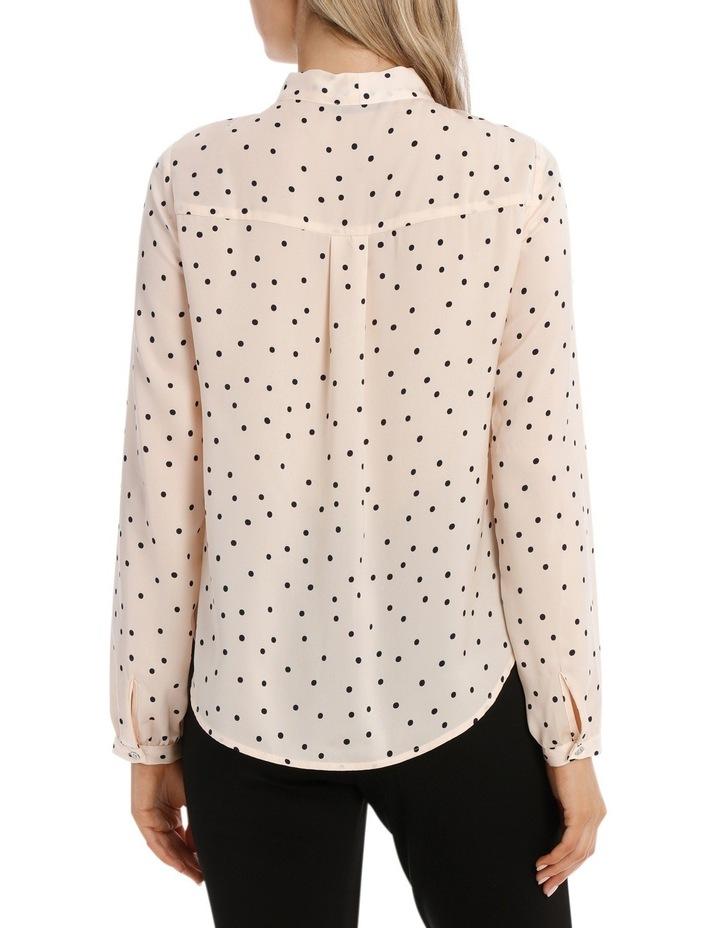 Pussy Bow Print Shirt - Polka Dot image 3
