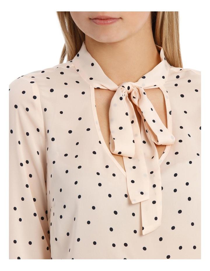 Pussy Bow Print Shirt - Polka Dot image 4