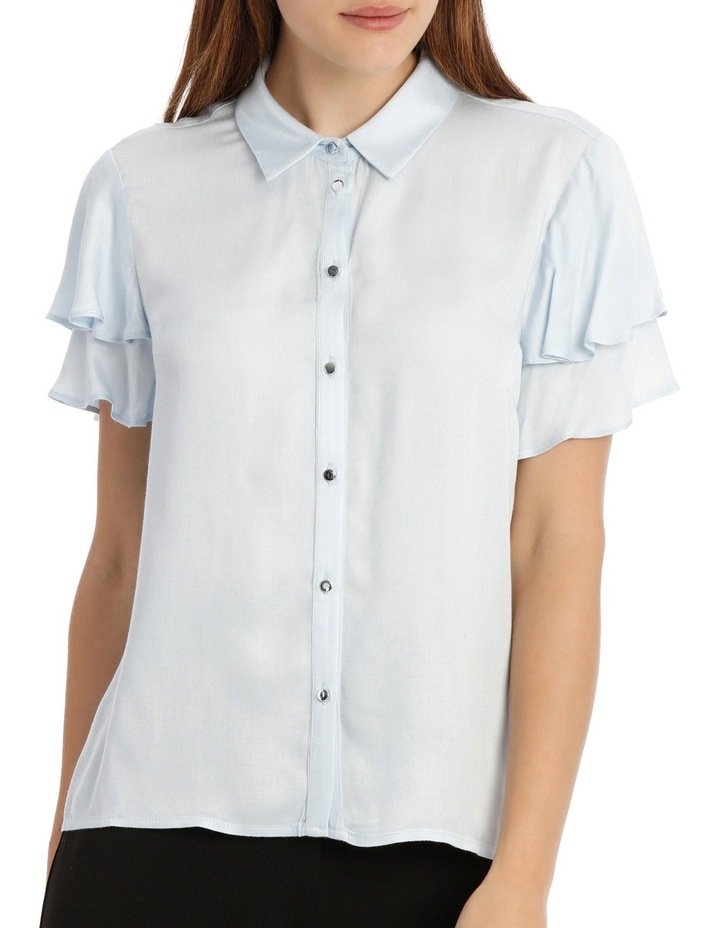 Flutter Sleeve Button Up Shirt image 1