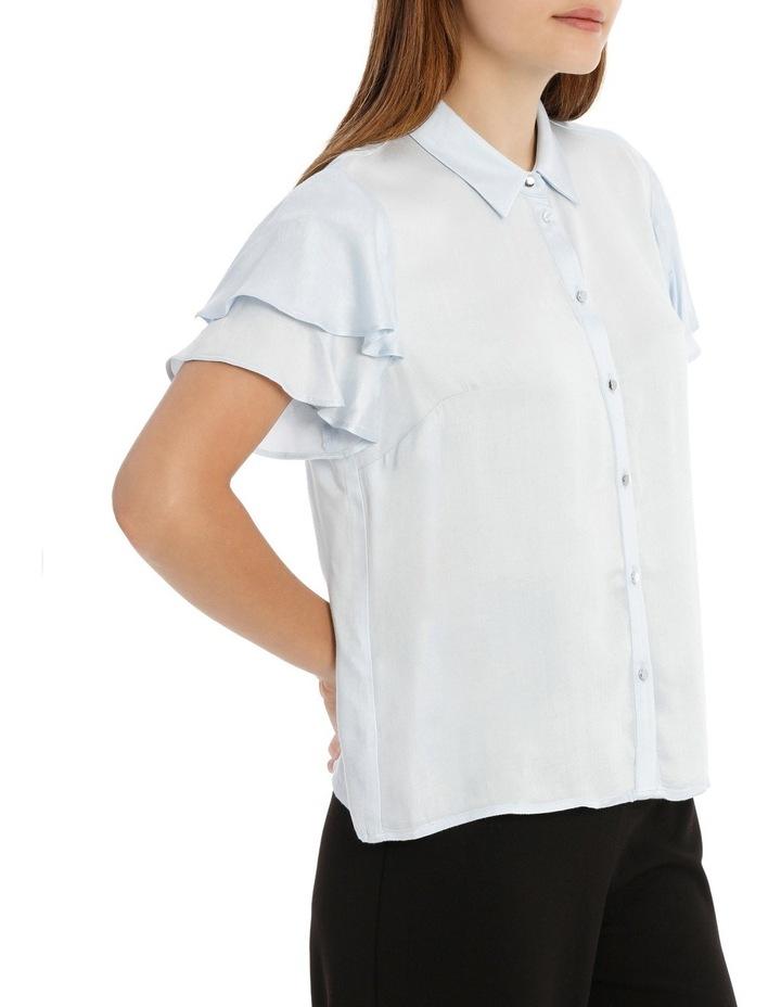 Flutter Sleeve Button Up Shirt image 2