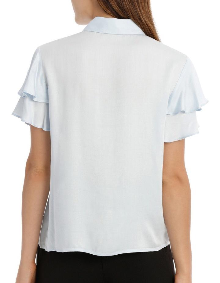 Flutter Sleeve Button Up Shirt image 3