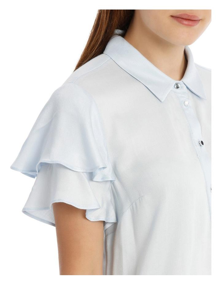 Flutter Sleeve Button Up Shirt image 4