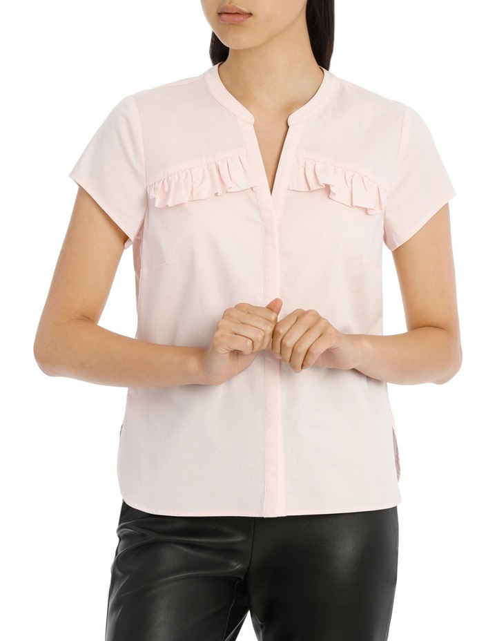 Ruffle Front Shirt - Pink image 1