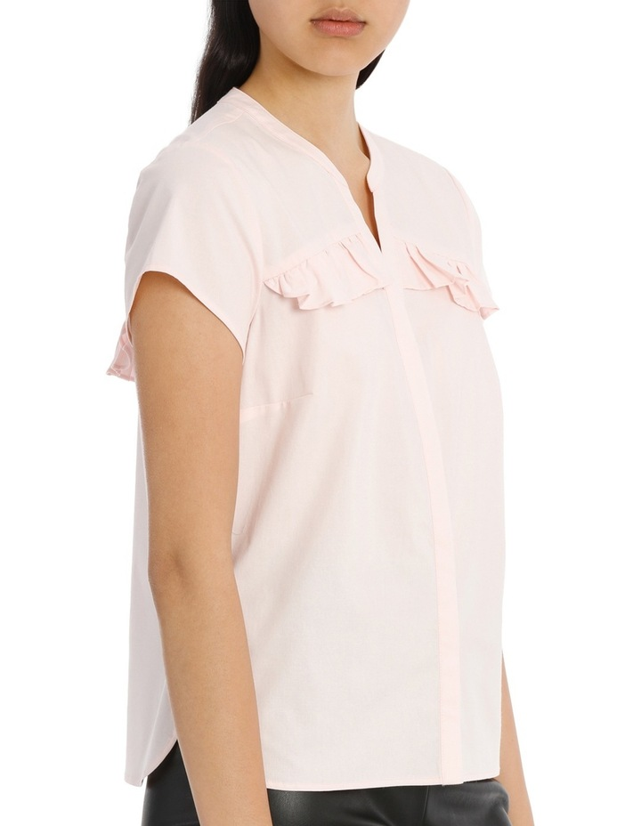 Ruffle Front Shirt - Pink image 2
