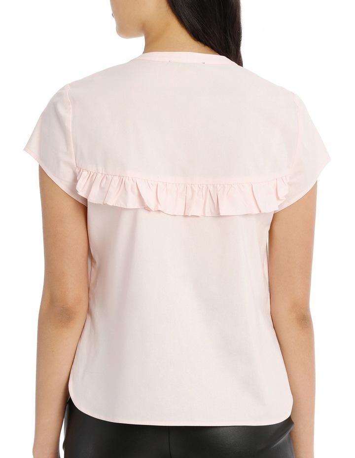 Ruffle Front Shirt - Pink image 3