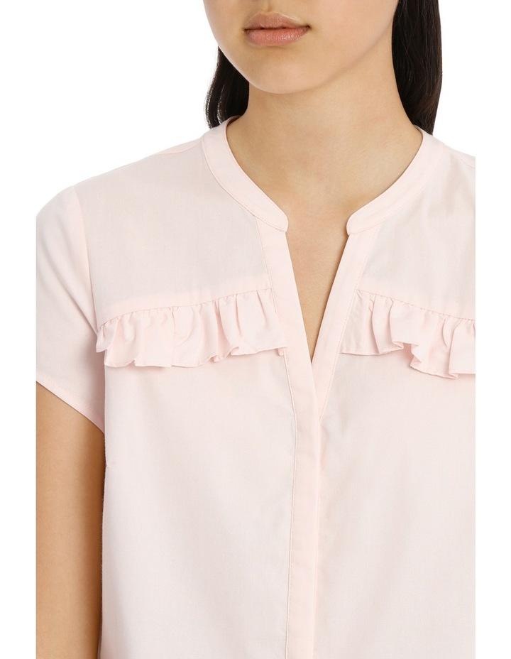 Ruffle Front Shirt - Pink image 4