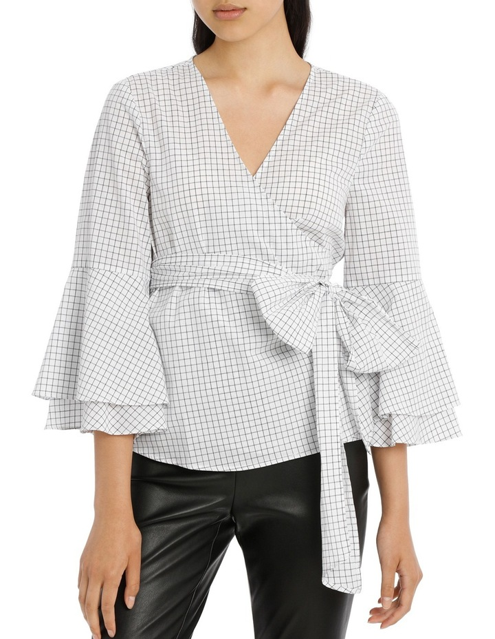 Wrap Shirt with Tiered Sleeves - Grid image 1
