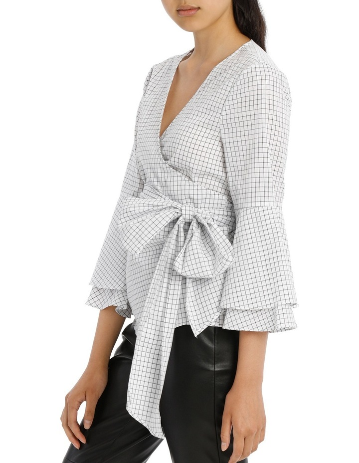 Wrap Shirt with Tiered Sleeves - Grid image 2