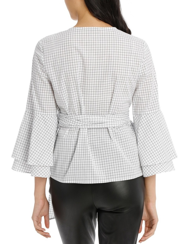 Wrap Shirt with Tiered Sleeves - Grid image 3