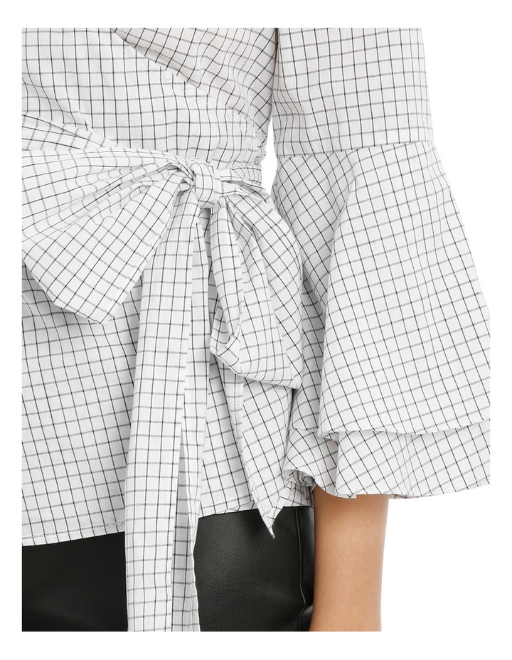 Wrap Shirt with Tiered Sleeves - Grid image 4
