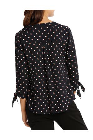 Tokito - Eclipse Spot Tie Sleeve Shirt