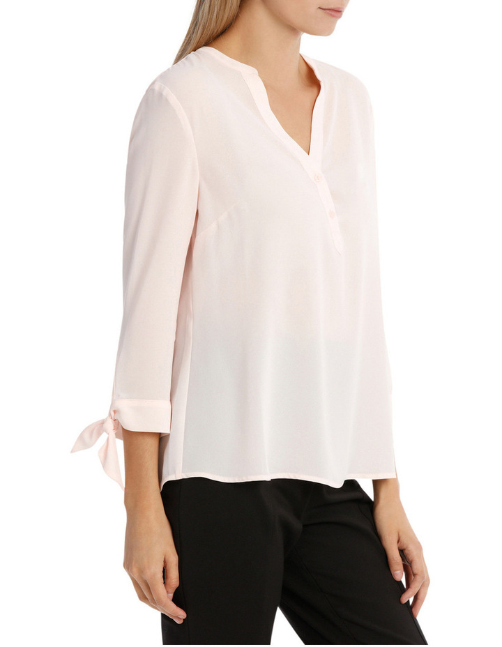 Tie Sleeve Shirt - Blossom Pink image 2