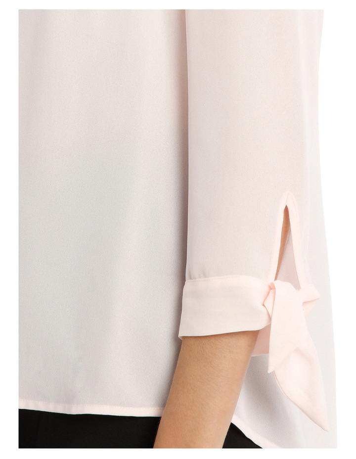 Tie Sleeve Shirt - Blossom Pink image 4