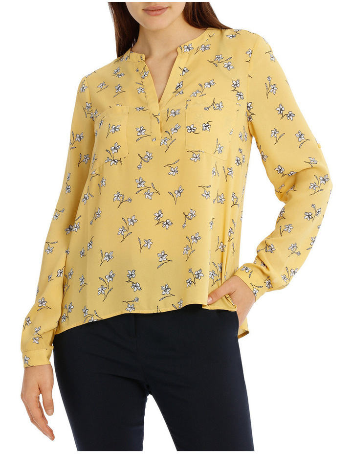 CollarlessDouble Pocket Shirt - Tossed Disty image 1
