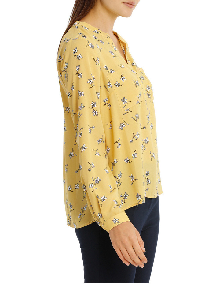 CollarlessDouble Pocket Shirt - Tossed Disty image 2
