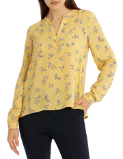 Tokito - CollarlessDouble Pocket Shirt - Tossed Disty