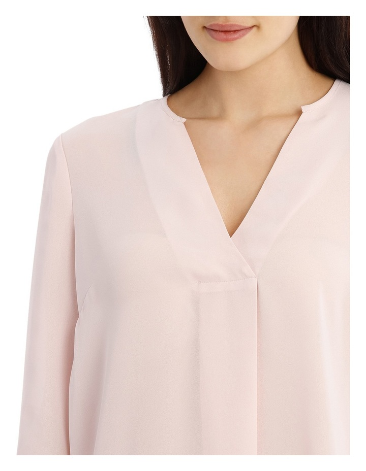 Cross Over Neck 3/4 Shirt - Powder Pink image 4