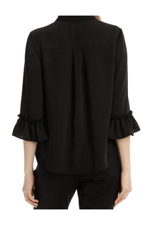 Tokito - Frill Sleeve Shirt - Black
