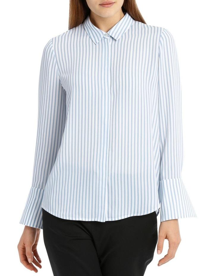 Blue Stripe Work Shirt image 1