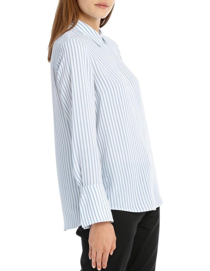Blue Stripe Work Shirt image 2