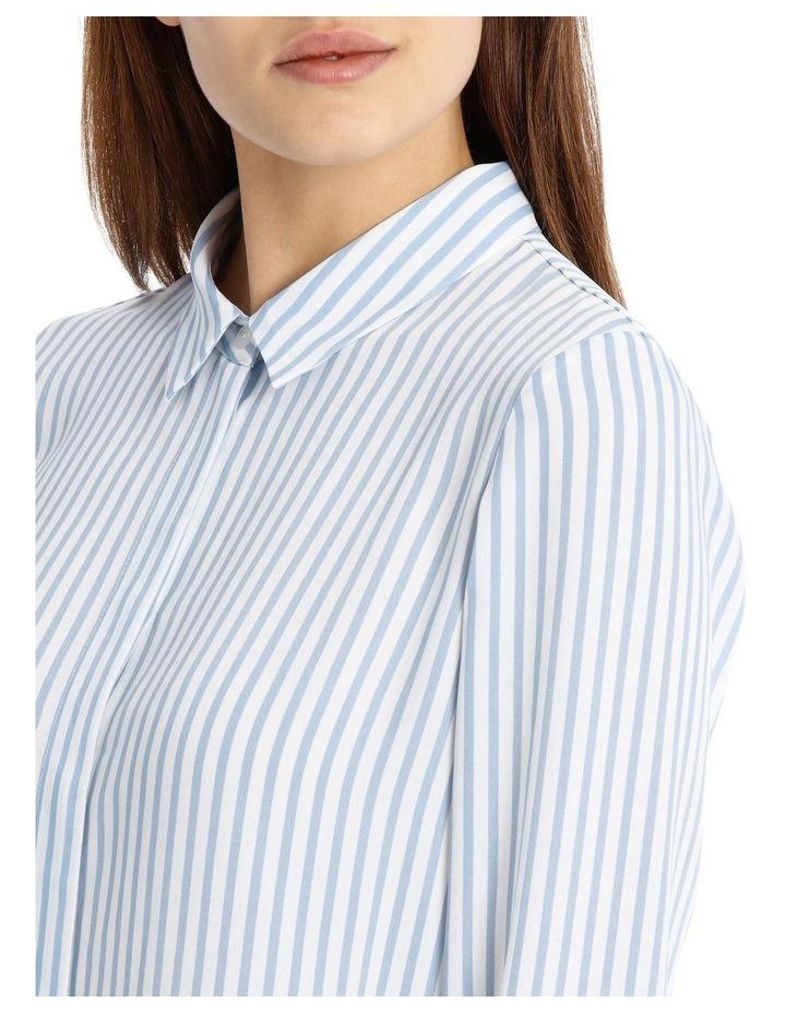 Blue Stripe Work Shirt image 3