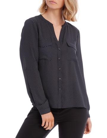 652f47f78752e2 Tokito Button Through Shirt - Micro Spot