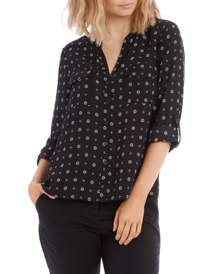 Button Through Shirt - Spot Ditsy image 1