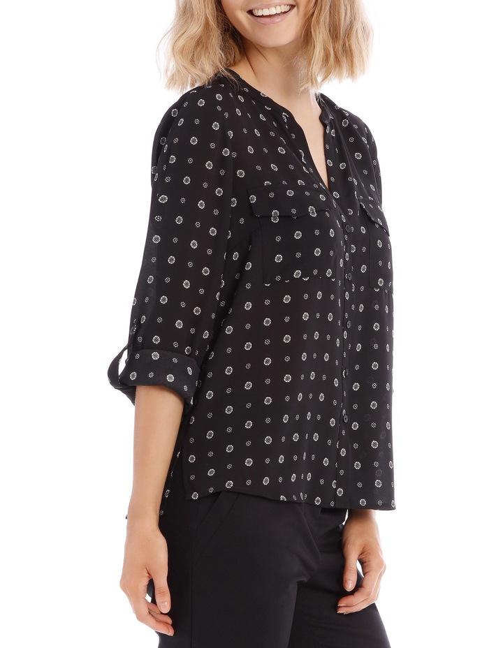 Button Through Shirt - Spot Ditsy image 2