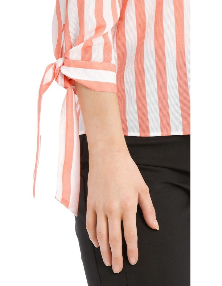 Frill Neck Tie Sleeve Shirt - Candy Stripe image 4