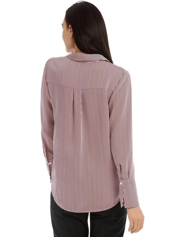 Burgundy Stripe Work Shirt image 3