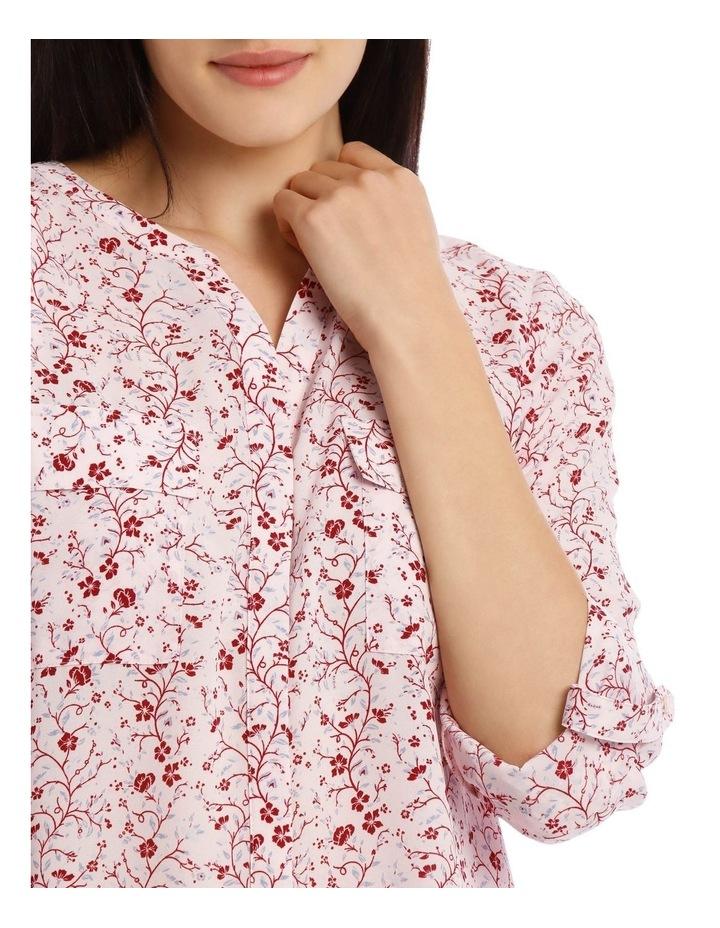 Vine Floral Button Through Collarless Shirt image 4