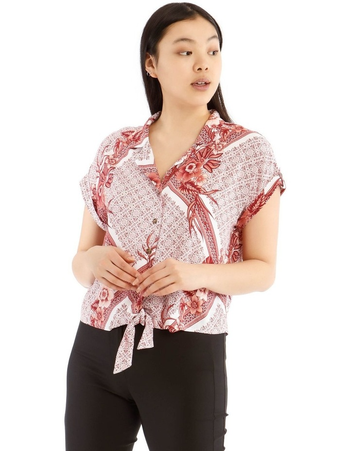 Tie Front Short Sleeve Shirt image 1