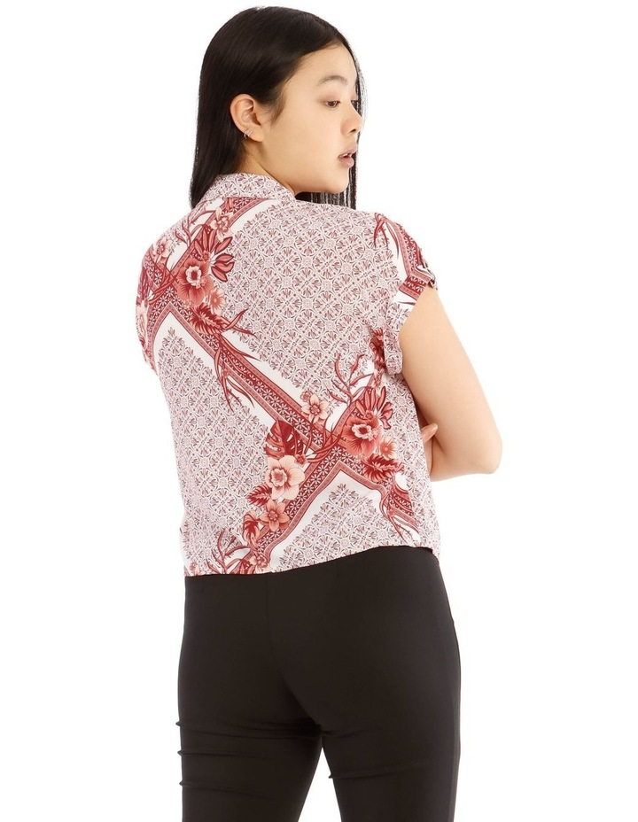 Tie Front Short Sleeve Shirt image 3