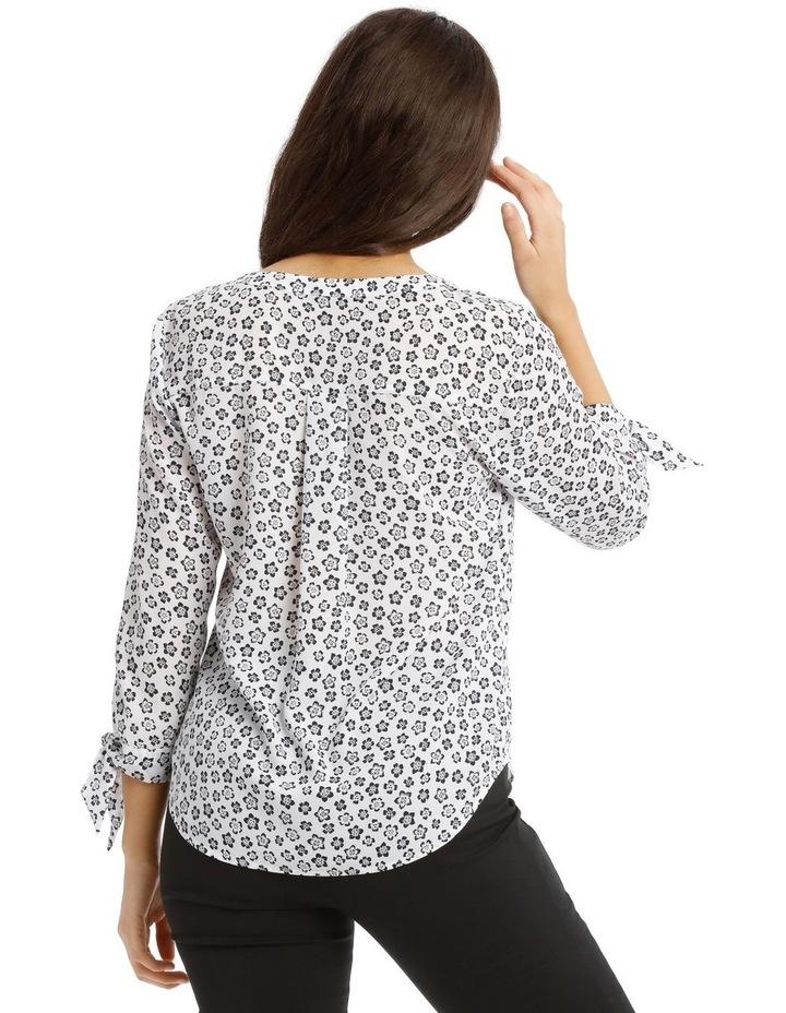 Tie Sleeve Shirt  - Stamp Floral image 3