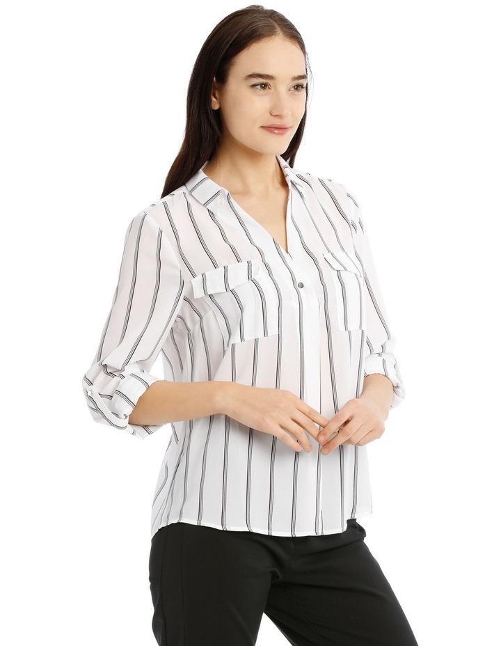 Button Detail Roll Cuff Shirt image 2