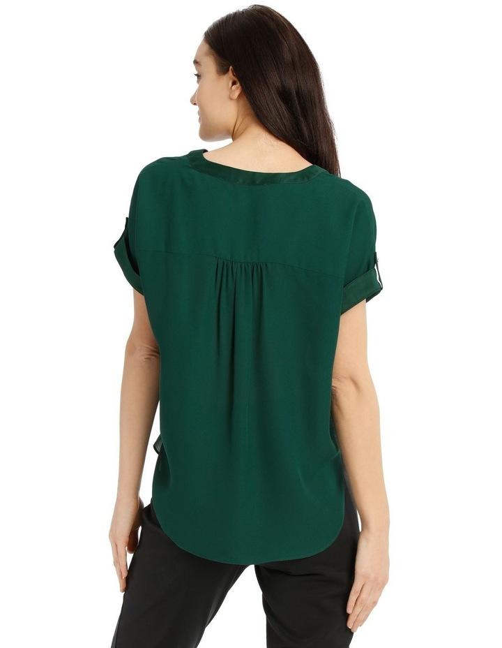 Satin Cuff Short Sleeve Shirt image 3