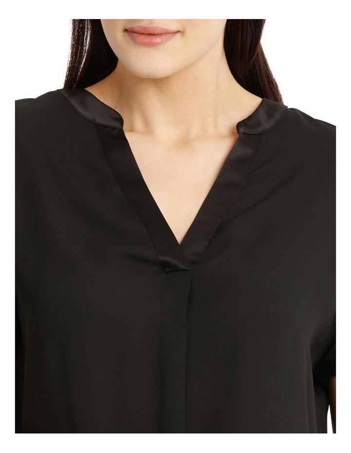 Satin Cuff Short Sleeve Shirt image 4