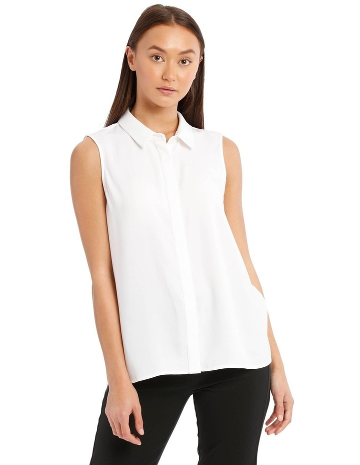 Sleeveless Collared Shirt image 1