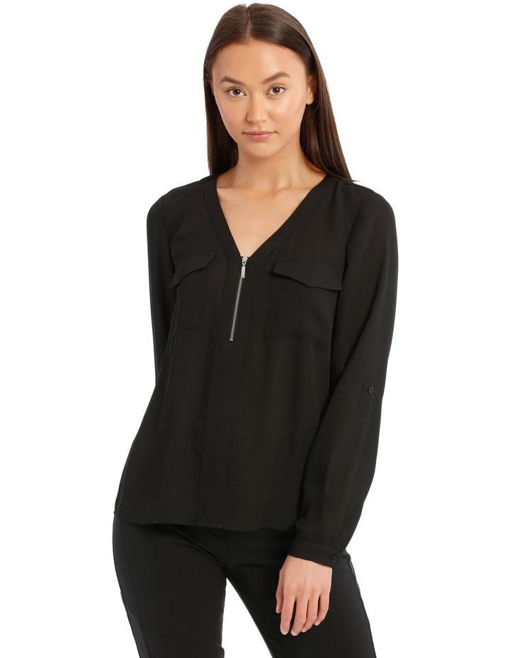 Black Zip Front Shirt image 1