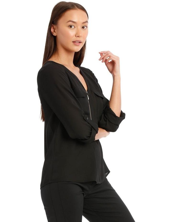 Black Zip Front Shirt image 2