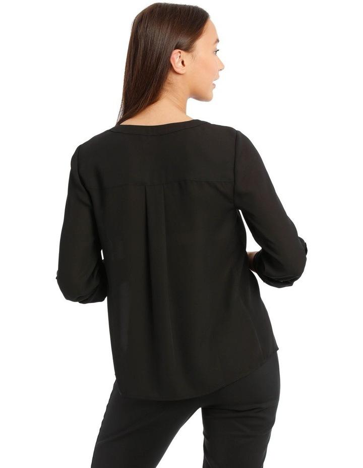 Black Zip Front Shirt image 3