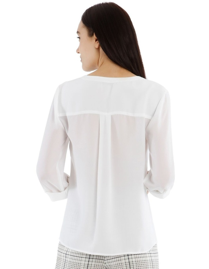 White Zip Front Shirt image 3