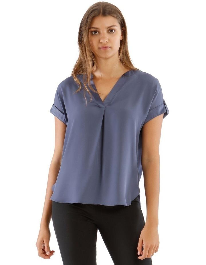 Satin Cuff Short Sleeve Shirt image 1