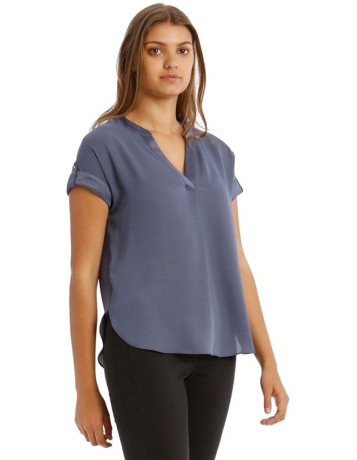 Satin Cuff Short Sleeve Shirt image 2