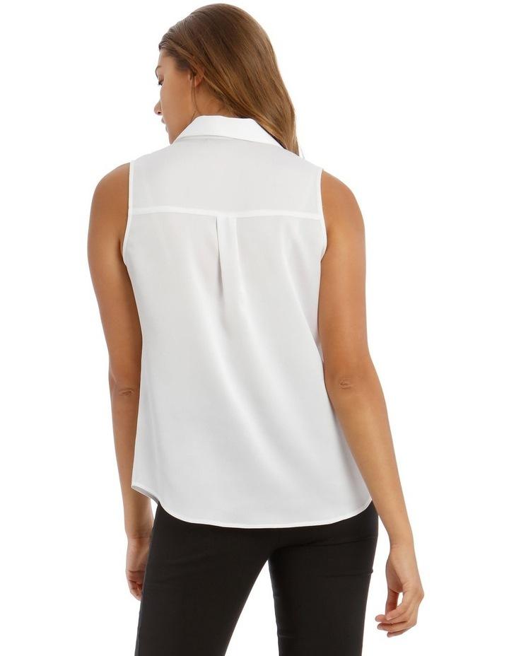 White Sleeveless Utility Shirt image 3